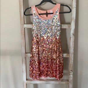 Pink sequin dress